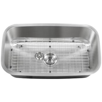 "CAPHAUSUndermount Single Bowl 16 Gauge Stainless Steel Kitchen Sink, 31-1/2"""