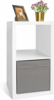 CAP LIVING 2 Cube Organizer w/Extra Wide Frame, Sturdy Storage Room Divider, 2 x 1/2 x 2/2 x 3 Bookcase, Colors Available in Espresso and White