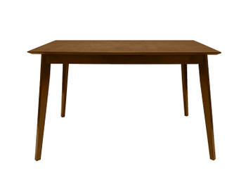 "CAPHAUS Wood Modern Dining Room Table for up to 6 people, 47"" Kitchen Rectangular Dining Table in Walnut"
