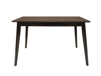"CAPHAUS Wood Modern Dining Room Table for up to 6 people, 47"" Kitchen Rectangular Dining Table in Cappuccino Finish"