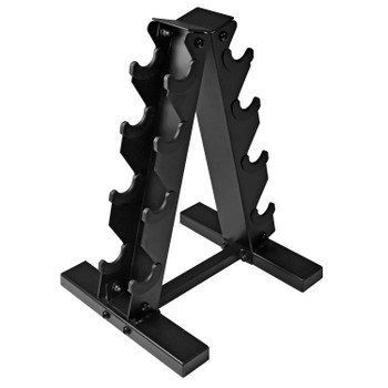 CAP Barbell A-Frame Dumbbell Weight Rack, Black, 4-Tier
