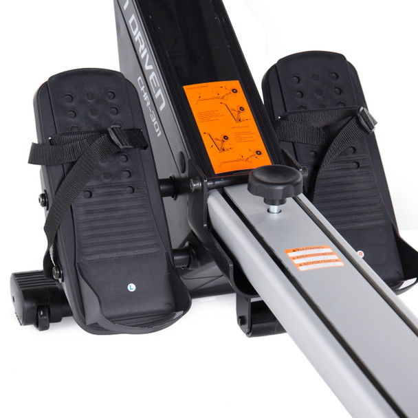 close-up of pedals for Velocity Exercise Motion Series Rower