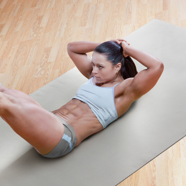 Model working out on CAP Multi-Use Mat with Diamond Texture