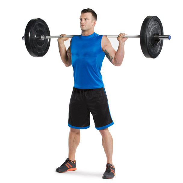Model using CAP Aluma-Lite Olympic Training Bar with weights