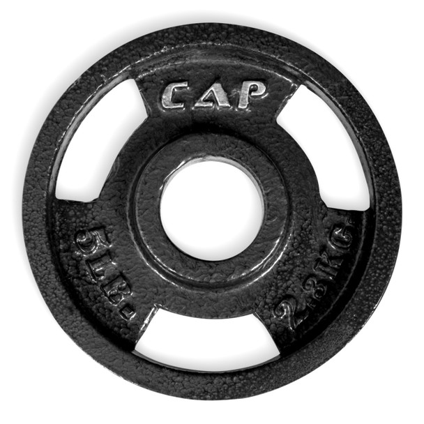 5 lb CAP Olympic Cast Iron Grip Plate, Black