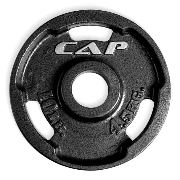 10 lb CAP Olympic Cast Iron Grip Plate, Black