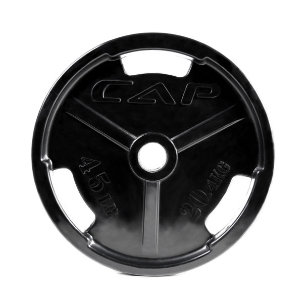 45 lb CAP Olympic Rubber Coated Grip Plate
