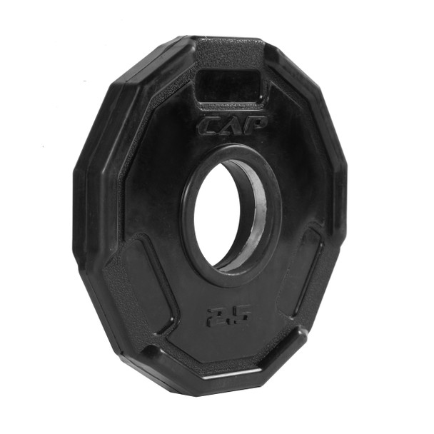 2.5 lb CAP 12-sided Olympic Rubber Coated Grip Plate