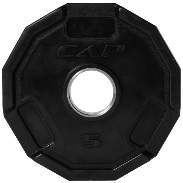 5 lb CAP 12-sided Olympic Rubber Coated Grip Plate