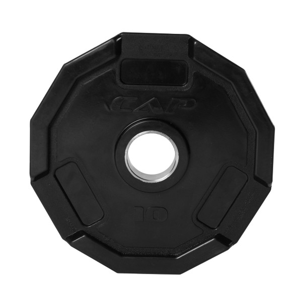10 lb CAP 12-sided Olympic Rubber Coated Grip Plate
