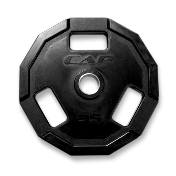 35 lb CAP 12-sided Olympic Rubber Coated Grip Plate