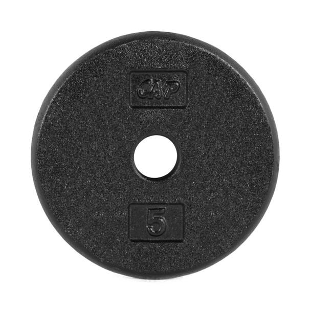 5 lb CAP Standard Cast Iron Plate, Black
