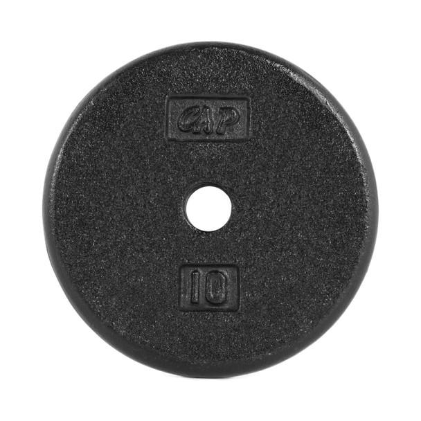 10 lb CAP Standard Cast Iron Plate, Black