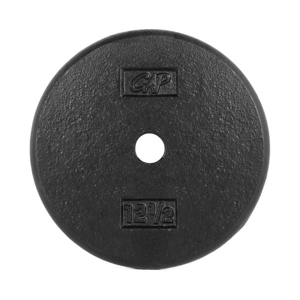 12.5 lb CAP Standard Cast Iron Plate, Black