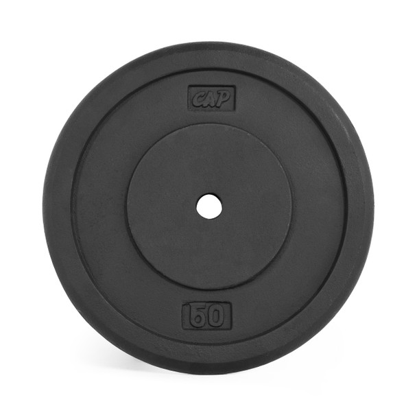 50 lb CAP Standard Cast Iron Plate, Black