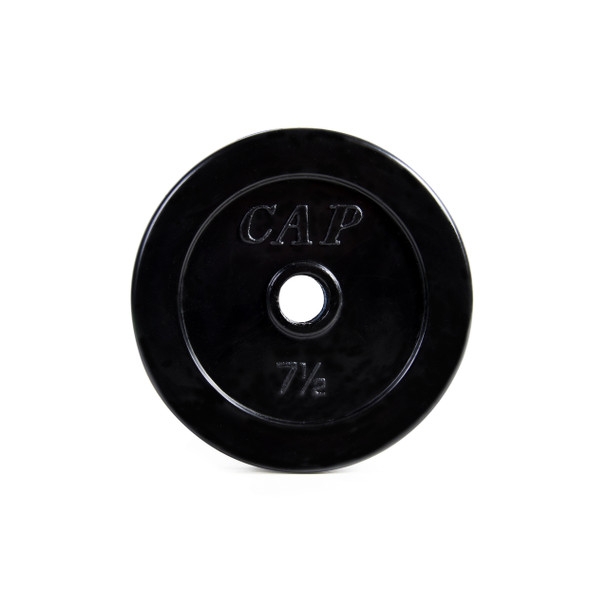 7.5 pound CAP Standard Rubber Coated Cast Iron Weight Plate