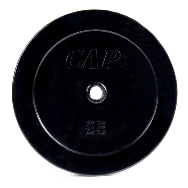 25 pound CAP Standard Rubber Coated Cast Iron Weight Plate