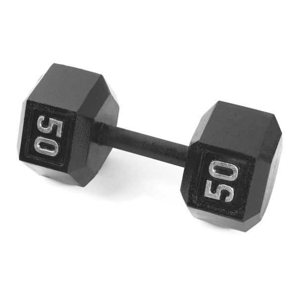 CAP Cast Iron Hex Dumbbells, 50 lb
