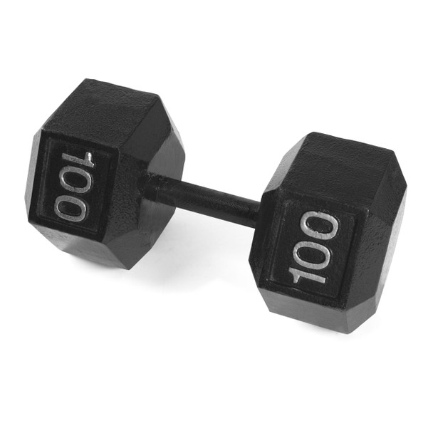 CAP Cast Iron Hex Dumbbells, 100 lb