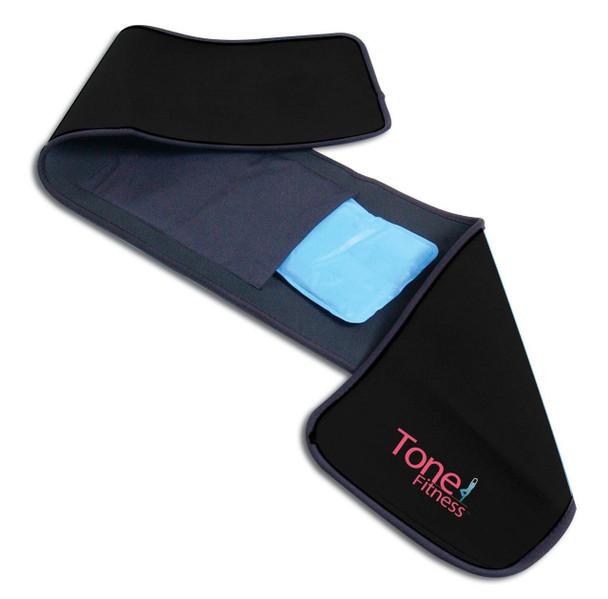 Tone Fitness Black Waist Slimmer with Gel Pack