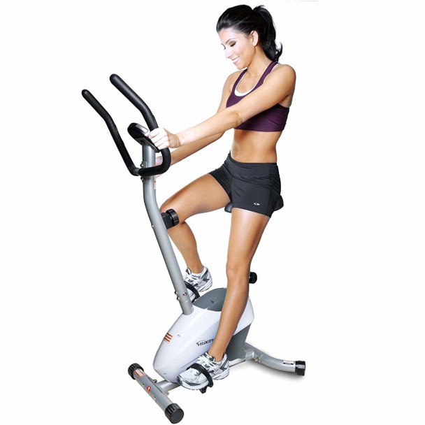 Velocity Exercise Magnetic Upright Exercise Bike, Colors Available in White and Gray
