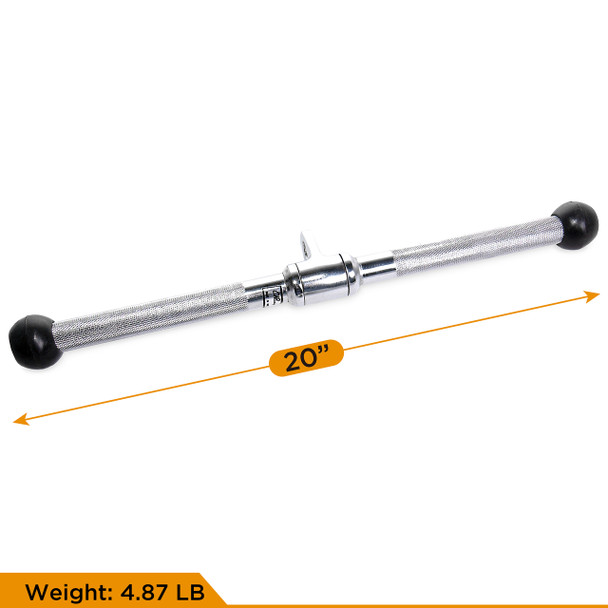 CAP Barbell 48'' Lat Bar & Double D-Shaped Attachment & V-Shaped Triceps Press Down Attachment & 20'' Straight bar Attachment Set
