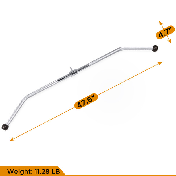CAP Barbell 48'' Lat Bar & 34'' Pro-Style Lat Bar with Revolving Hanger & Double D-Shaped Attachment & 2pc Solid D-Shaped Attachment & Triceps Press Down Rope Set