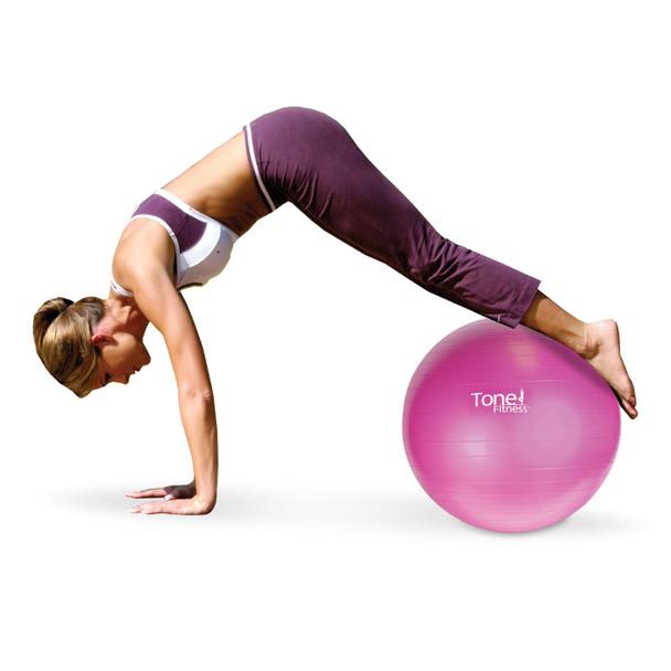 Tone Fitness Yoga Set – Yoga Ball, Yoga Mat, Yoga Towel, Beaded Jump rope