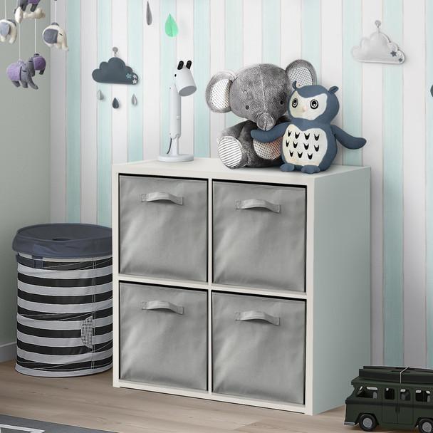 CAPHAUS 4 Cube Organizer w/Extra Wide Frame with storage bins