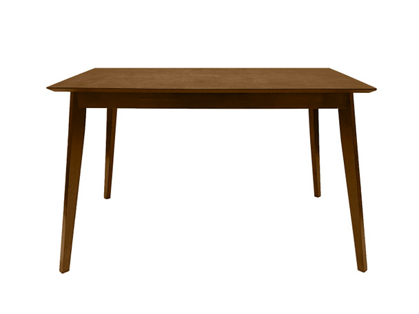 """CAPHAUS Wood Modern Dining Room Table for up to 6 people, 47"""" Kitchen Rectangular Dining Table in Walnut"""