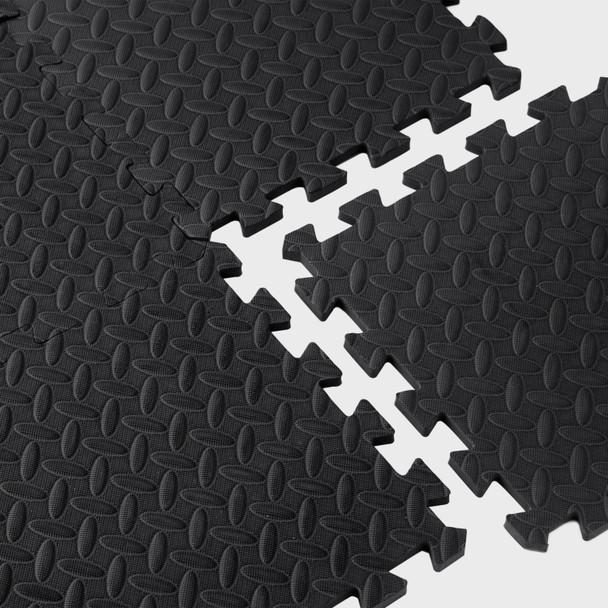 CAP Barbell Foam Mat Floor Tiles, EVA Foam Interlocking Exercise Gym Floor Mat Tiles for Exercise Equipment 12 SQFT