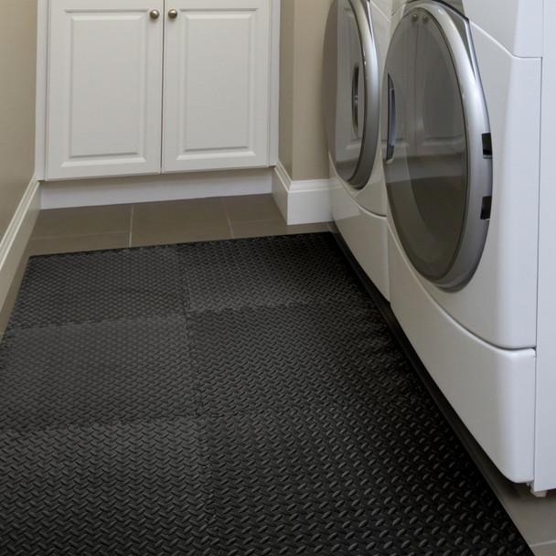 CAP Barbell Foam Mat Floor Tiles, EVA Foam Interlocking Exercise Gym Floor Mat Tiles for Exercise Equipment 20 SQFT
