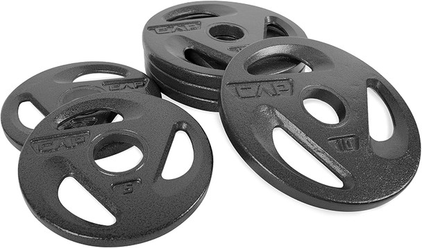 CAP Barbell Olympic Grip Weight Plates 50 Lbs Set, 2 options