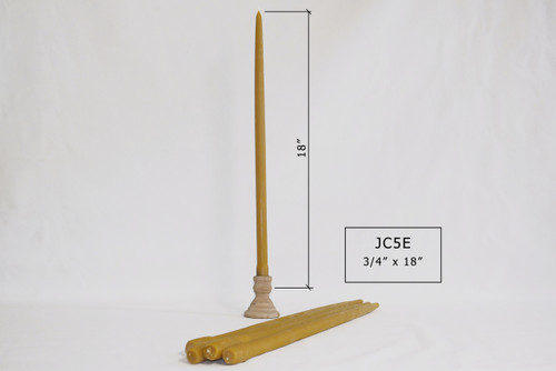 """JC-5E 18""""x3/4"""" Tapered Candles"""