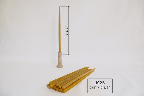 """JC-2B 9 1/2""""x3/8"""" Tapered Candles"""