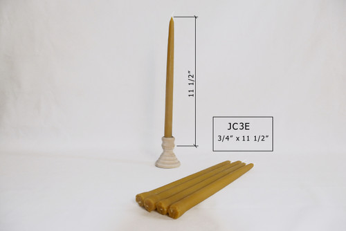 """JC-3E 11 1/2"""" x 3/4"""" Tapered Candles"""