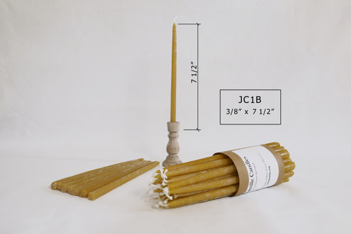 """JC-1B 7 1/2""""x3/8"""" Tapered Candles"""