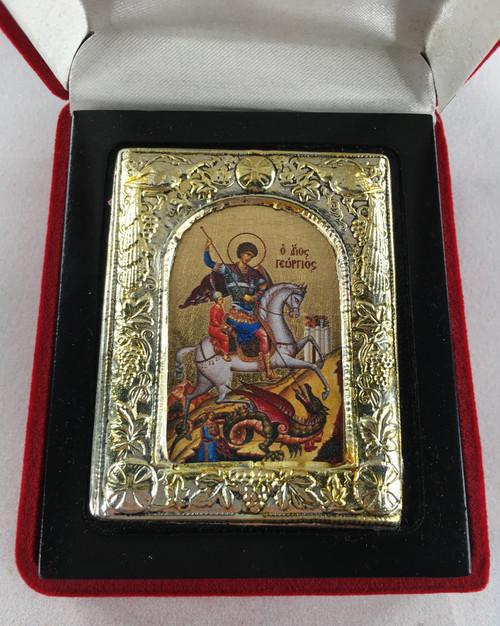 St. George, Small Icon, Silver border