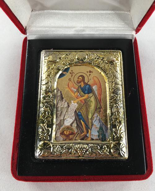St. John the Baptist, Small Icon, Silver border