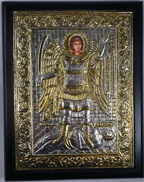 Archangel Michael, Silver-plated Icon