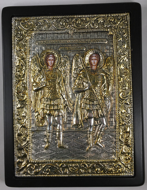 Holy Archangels, Silver-plated Icon