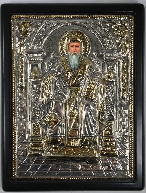 St. Spyridon, Silver-plated Icon