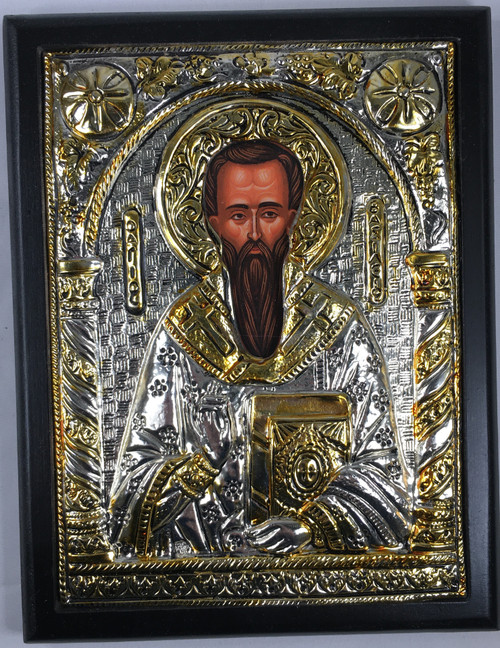 St. Basil, Silver-plated Icon