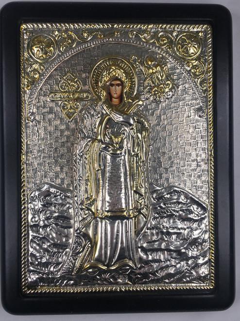 St. Anastasia, Silver-plated Icon
