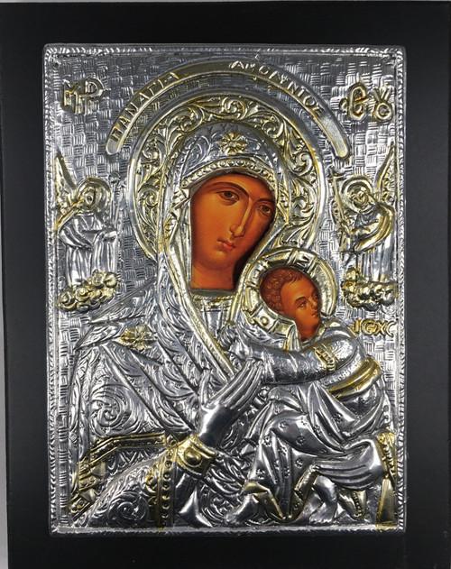 Theotokos - Amolyntos, 2-tone Metallic Icon