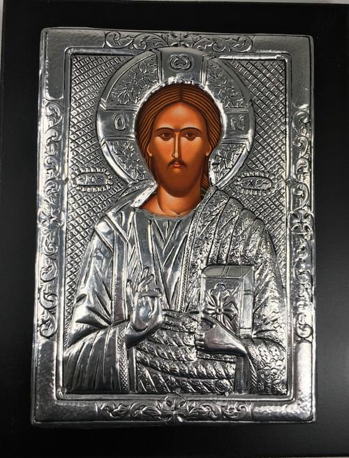 Christ - Pantocrator, Metallic Icon