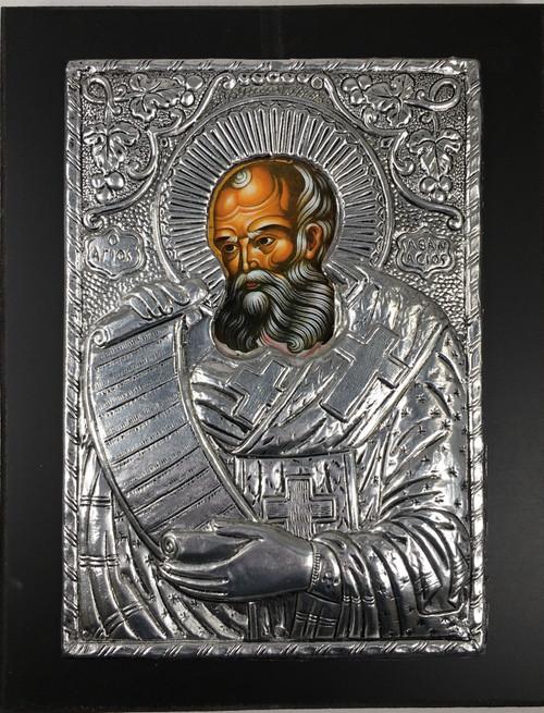 St. Athanasius, Metallic Icon