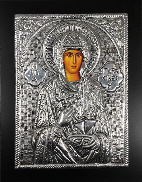 St. Paraskeva, Metallic Icon