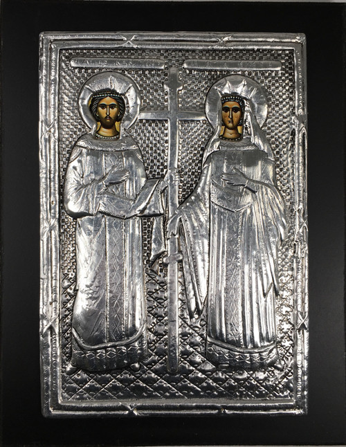 Sts. Constantine and Helen, Metallic Icon