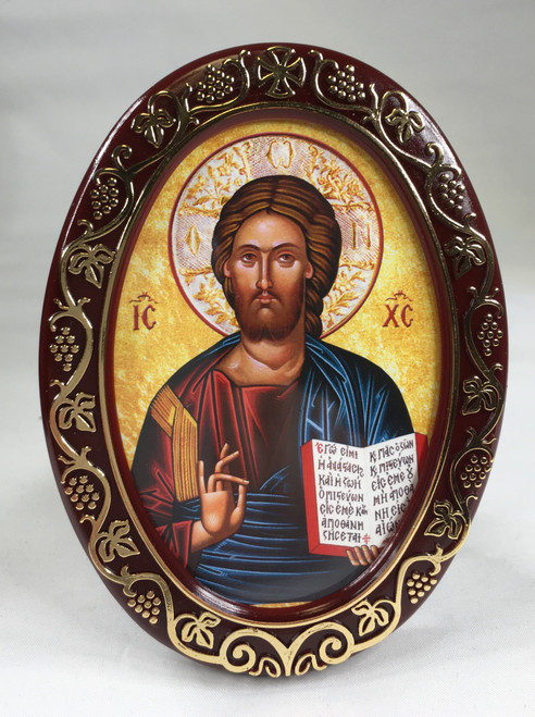 Christ - Standing Oval Icon